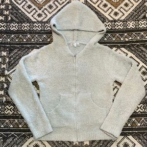 Barefoot dreams cozy chic knit zip up sweater M
